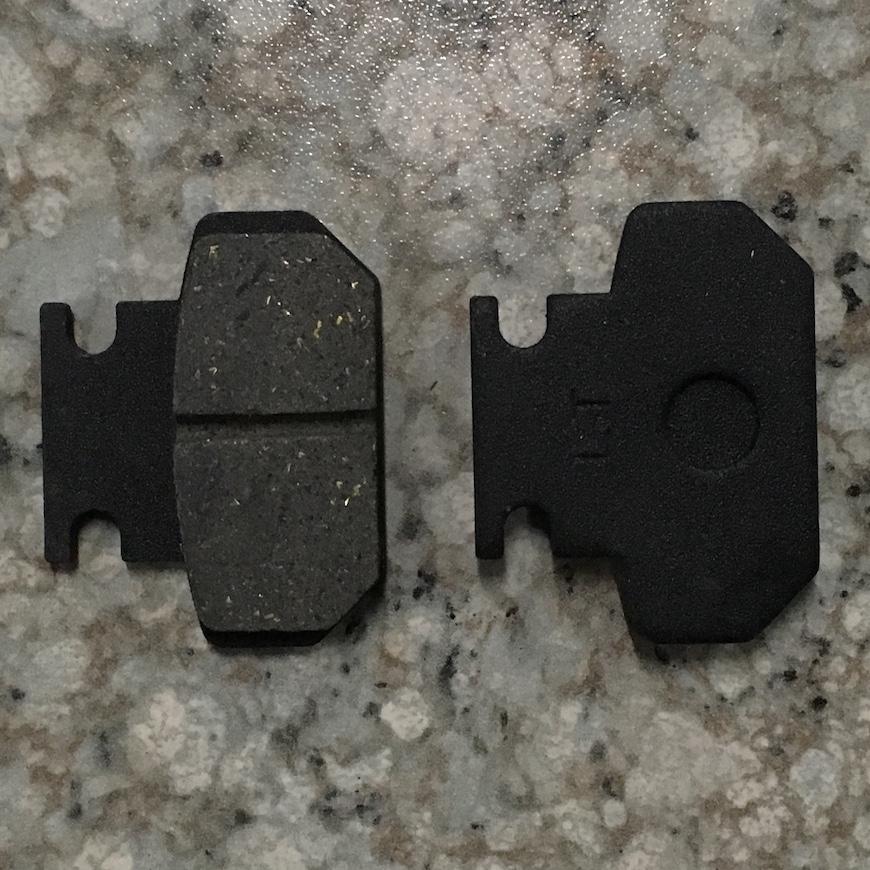 """Гальмівні колодки задні для 8"""" коліс"""